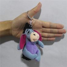 1pcs 10cm Eeyore donkey plush pendants toys Keychains toys