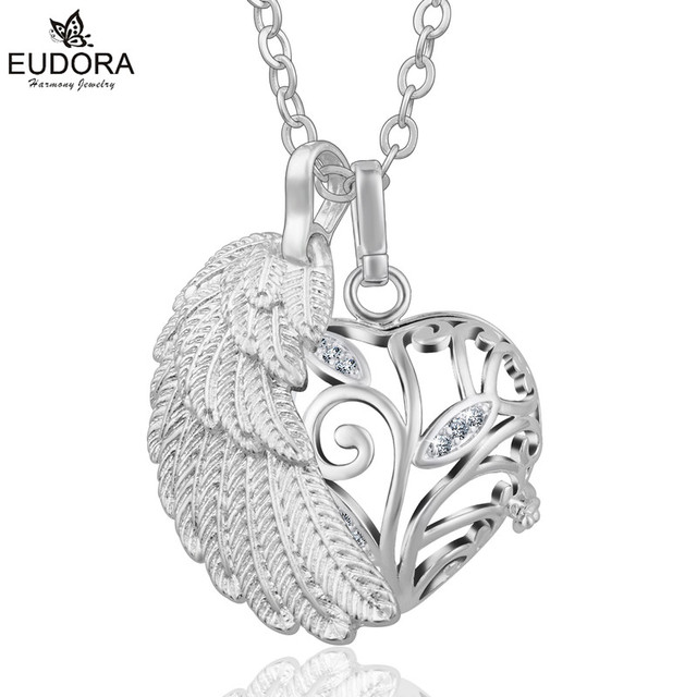 Eudora angel caller wing pendant for 18mm chime ball copper with eudora angel caller wing pendant for 18mm chime ball copper with crystals heart tree bola pendant mozeypictures Choice Image