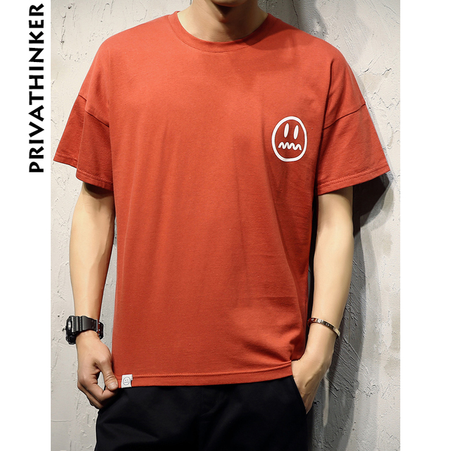 90382fe12f466 Privathinker 2018 Mens Tshirt Sad Boy Print Short Sleeve T-shirts Off  Shoulder Male Summer