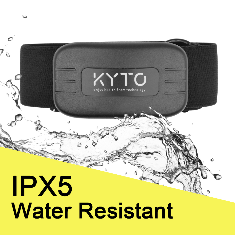 KYTO Heart Rate Monitor Chest Strap Bluetooth 4.0 ANT Fitness Sensor Compatible Belt Wahoo Polar Garmin Connected Outdoor Band-3