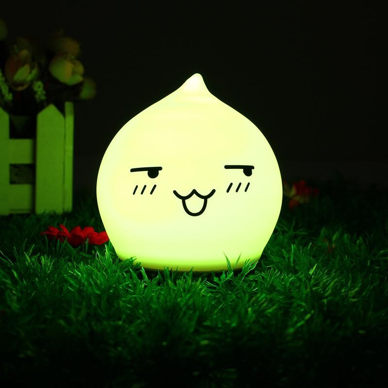 Active Creative Led Water Drop Shape Silicone Pat Light Colorful Tranform Model Water Drops Decompression Night Lights Battery Models