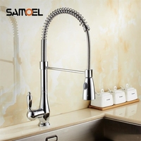 New Design Chrome Pull Out Kitchen Faucets Copper Pull Down Kitchen Tap Mixers Torneiras