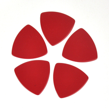 Lots of 100 pcs Rounded Triangle Big Size Medium 0.71mm Celluloid Guitar Picks Solid Red