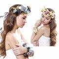 Новый Сладкий головные уборы повязка Свадебный венок Фото аксессуары свадебные украшения цветка руки и голову цветок бесплатная доставка