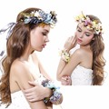 new Sweet headwear headband Bridal wreath Photographic accessories wedding decoration hand flower and head flower free shipping