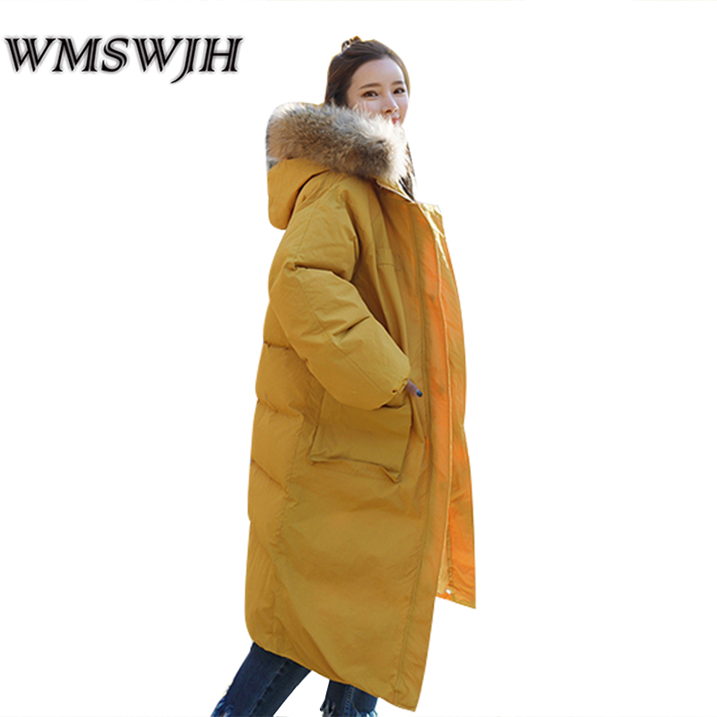 2017 Winter Jacket Women Coat Loose Thicken Plus Size Female Quilted Jackets Solid Color Fur Collar Hooded Super Warm Outerwear hot style three points children quilted loose coat