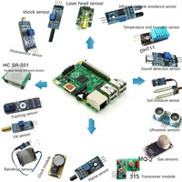 Raspberry Pie Ardoino Combination Sensor Suite 16 Suit Collocation Send 40 Lines Without B Motherboard