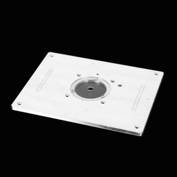 Maszyna do przycinania Flip Plate maszyna do grawerowania elektryczny stół do frezowania drewna stół do fazowania stół warsztatowy do obróbki drewna tanie i dobre opinie Milling Plunge Router Insert Plate