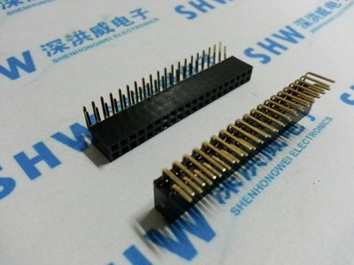 5PCS Pitch 2.54mm 2x20Pin 40 Pin Female Double Row Right Angle Straight Header Strip Connector Socket 100pcs 2x7 pin 2 54mm double row female pin header 14p pcb socket connector
