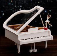 New Arrival Clockwork Type Rotary Classical Ballerina Girl On The Piano Music Box Music Box Ballerina