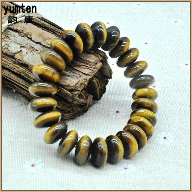 Yumten Natural Tiger Eye Stone Bracelets Bracciali Pulseras Armbanden Pulseras Hombre  Bangles For Man And Women Charm Jewelry