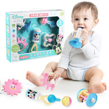 Disney Mickey Minnie Cute Cartoon Hand Rattles Baby Toys for Infant over 3 Months Eco-friendly Good Quality Plastic ABS Licensed