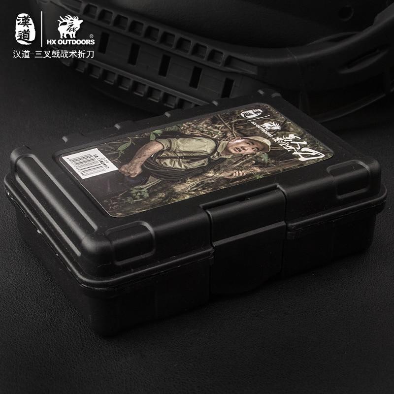 Купить с кэшбэком HX OUTDOORS AUS-8 Folding Blade Knife G10 Handle Outdoor Hunting EDC Gear Knives High Hardness Multi Camping Pocket Knife Tools