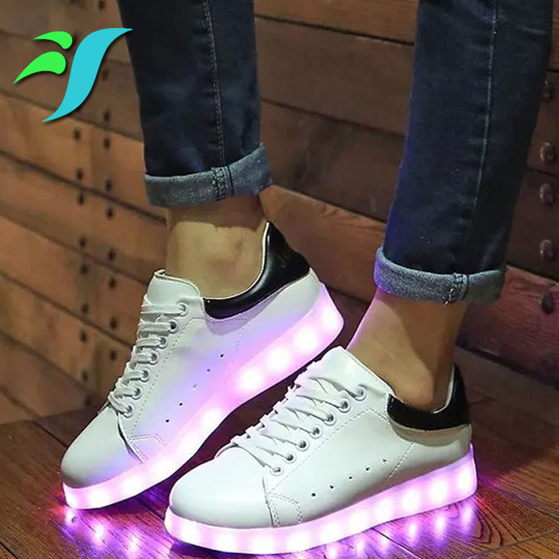 Mixed Color Led Light Up Shoes Women