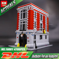 LEPIN 2016 New 16001 4695Pcs Ghostbusters Firehouse Headquarters Model Building Kits Model Set Minifigure Compatible With