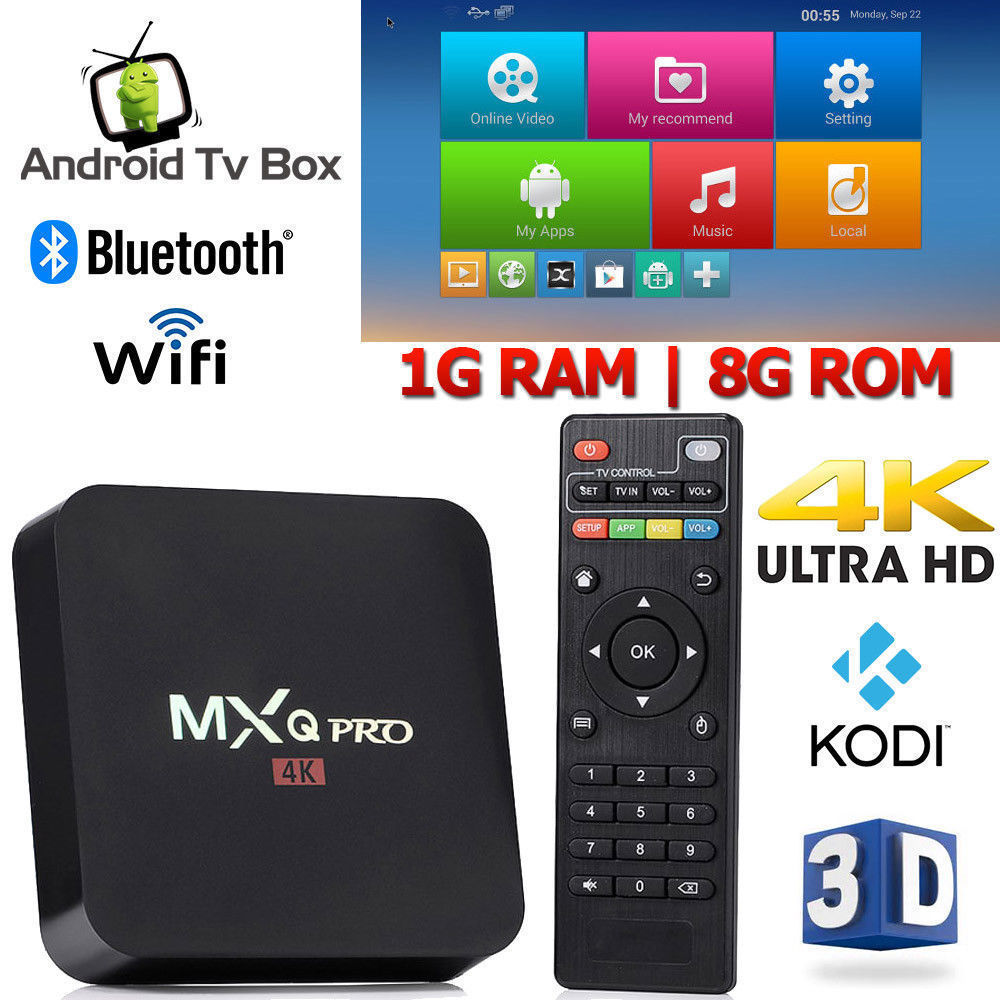 цена на AKASO MXQ Pro 4k Smart TV BOX Quad-Core 1G+8G 3D MXQ 4K Set Top Box Android 7.1 TV Box S905W Media Player MXQ Pro TV BOX