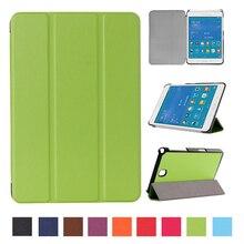 Para Samsung Galaxy Tab 8.0 T350 T355 SM-T355 tablet Imán soporte de la pu Funda de piel funda de la Cubierta de caso función Sleep Wake Up