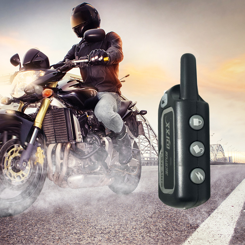 2 Way Motorcycle Universal Security Alarm Auto Scooter System Bike Immobiliser Remote Control Motorbike Engine Push Start Stop easyguard pke car alarm system remote engine start stop shock sensor push button start stop window rise up automatically