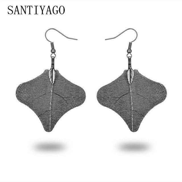 Leaves Drop Earrings For Women 2018 Leaf Pendant Charm Free-Form Shape Earrings Jewelry Fashion Vintage Drop Earrings
