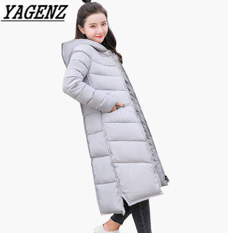 Parka   Warm Women's Long Outerwear Winter Hooded Jacket Slim Down Cotton Winter Female Jacket Solid Casual Basic coats Plus size