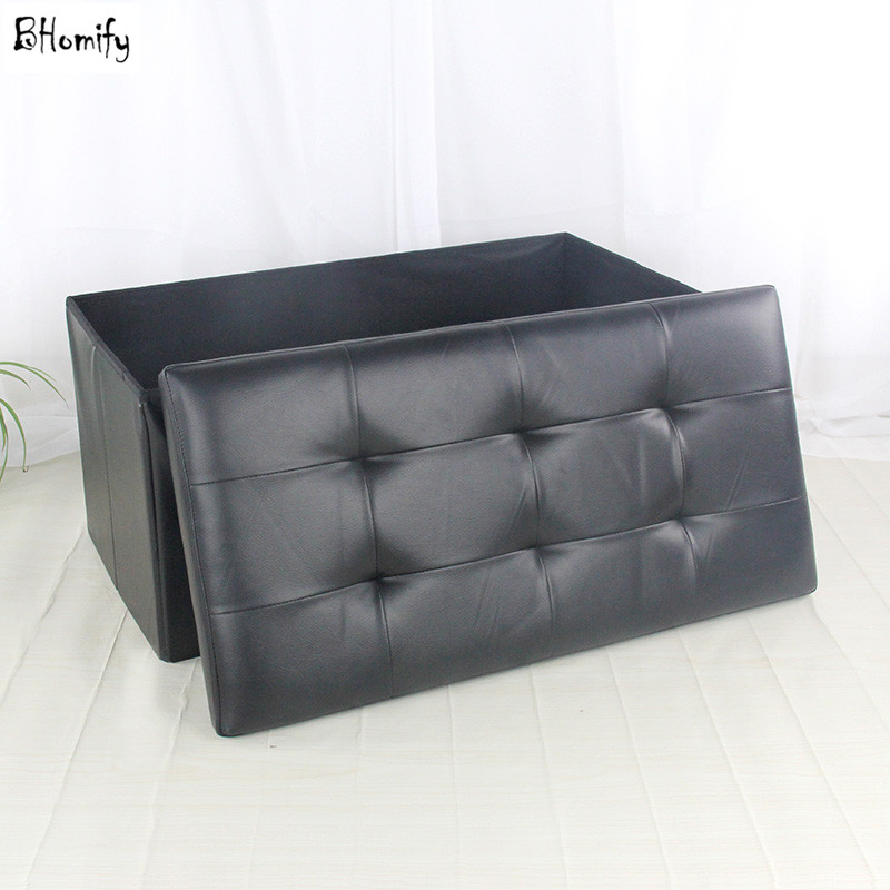 Great Cross Folded Leather Storage Box Sofa Stool Sundries Organizer Seat Chair  Sit Rest Stitching With Buckle High Quality In Storage Boxes U0026 Bins From  Home ...
