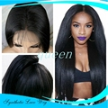 CosplayGlueless synthetic hair wig yaki synthetic wigs for black women kinky straight full lace wigs/synthetic lace front wig
