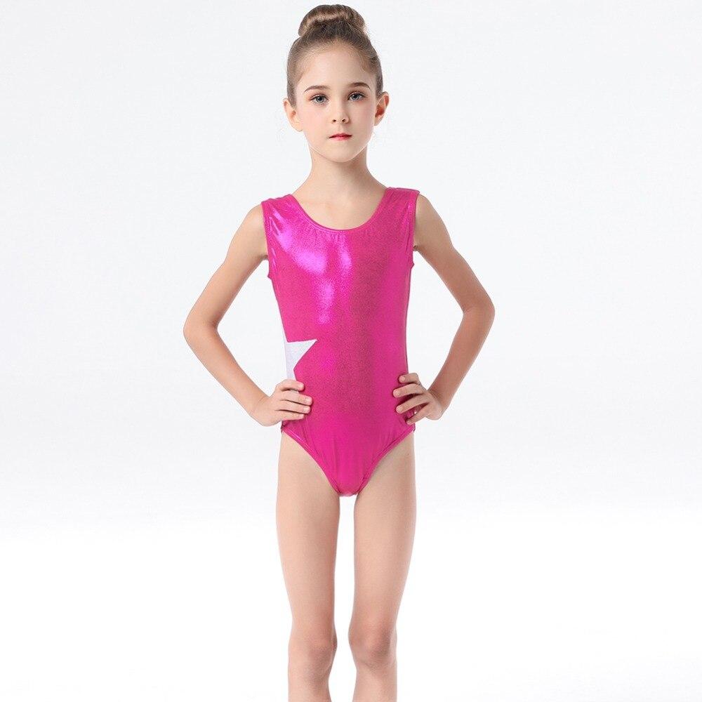 Girls Sleeveless Ballet Dance Dress Gymnastic Leotard Spliced Athletics Unitards