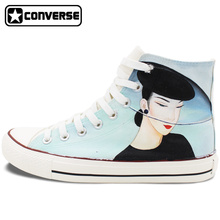 Original Design Hand Painted Shoes Converse Classic Beautiful Lady High Top Canvas Sneakers Unique Christmas Gifts for Men Women