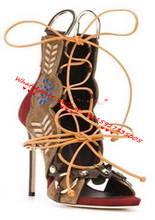 2017 New Ankle Strap Gladiator Sandals Women Summer Shoes Patchwork Suede Sandalias Mujer Botas Sexy High Heel Sandalia Feminina