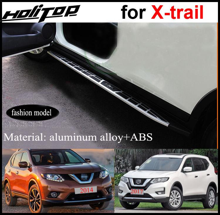Running board side step foot pedal board for Nissan Rogue X-trail 2014 2015 2016 2017 2018,