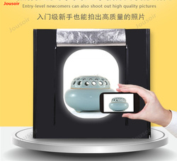 LED dimming Lighting Studio portable shooting table photo box softbox 30cm simple photography props CD50 T03