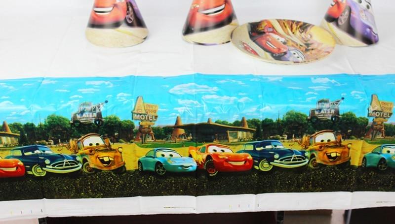 Cars Theme Boy Girl Birthday Party Decoration Decorations Kids Plastic Table Cloth Size 220cm X 132cm