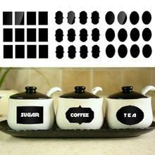 36 шт./лот меловая доска этикетки фляга наклейки на бутылки для дома кухонные банки наклейки на доску многоразмерная меловая доска этикетки бирка