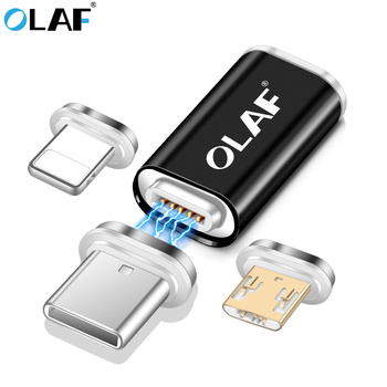 OLAF Magnetic Phone Interconversion adapter Micro USB Type C to charger for iphone 7 X XR XS Max For Samsung S8 S9 Plus Note 8 9