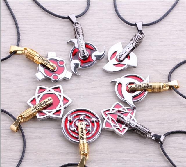 Naruto Metal Sharingan Collar (8 tipos)