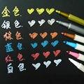 6 шт./компл. STA 6 видов цветов 1-2 мм цветная металлическая маркерная ручка для рисования DIY скрапбук ремесло мягкая ручка художественная отмет...