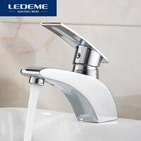 LEDEME Basin Faucet Water Tap Bathroom Faucet Solid Chrome Brass Finish Single Handle Water Sink Tap Mixer L1070
