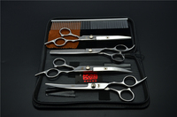 5Pcs Suit 6 17 5cm Japan Kasho Professional Hair Hairdressing Scissors Comb Cutting Thinning UP Down