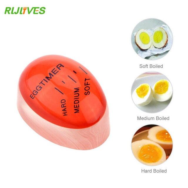 RLJLIVES 1 шт. яйцо идеальный цвет таймер с изменяющимся вкусным мягким твердым вареным яйцом для приготовления пищи кухня Экологичная Смола таймер для яиц