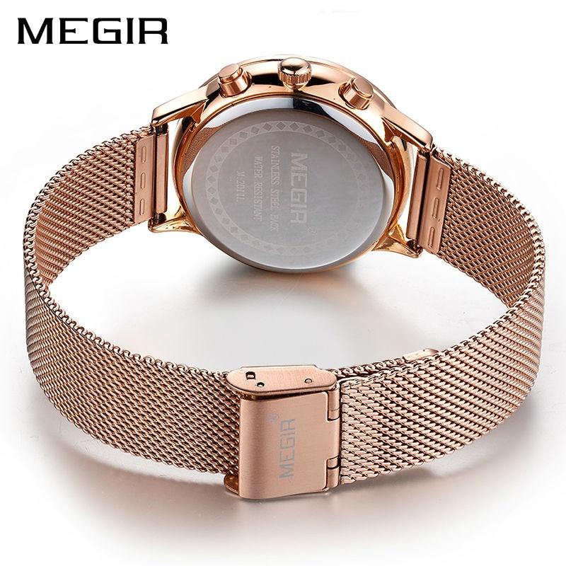 33c4df823a7 MEGIR Marca de Luxo Mulheres Relógios de Quartzo Moda Senhoras Relógio  Relogio feminino Relógio Do Esporte relógio de Pulso para Amantes Girl  Friend 2011 em ...