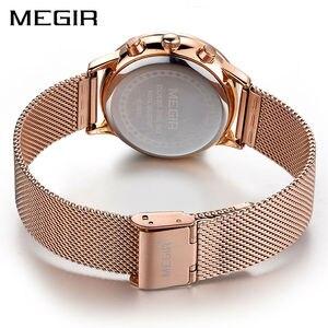 Image 3 - MEGIR แบรนด์ผู้หญิงหรูหราแฟชั่นนาฬิกาควอตซ์สุภาพสตรีนาฬิกา Relogio Feminino นาฬิกานาฬิกาข้อมือสำหรับคนรักสาวเพื่อน 2011