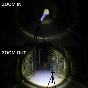 Image 5 - Powerful LED Flashlight With Attack head Self defense Torch Support zoom 5 lighting modes Powered by 18650 battery with compass