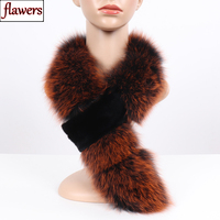 2019 New Arrival Winter Women Real Fox Fur Scarf With Rex Rabbit Fur Scarves Warm Natural Fox Fur Muffler Fox Fur Shawl Collar