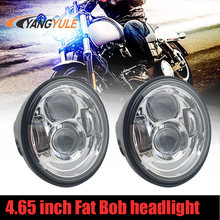 Esyauto 5inch LED Dual Headlight Round 40W High Low Beam Driving Lamp Twin Double Headlamp for Harley Davidson Fat Bob FXDF Motorcycle