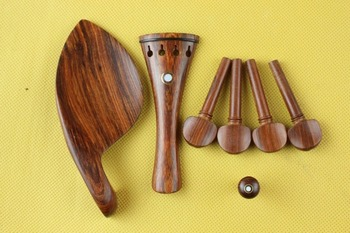 10 set high quality rose wood violin parts 4/4 full size, violin accessories