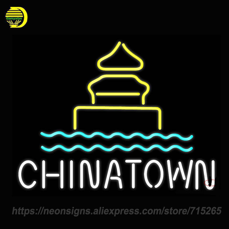 Neon Sign Chinatown Logo Neon Glass Tube Deli Border Hot Bialys Garlic Crabs Seafood Hot Coffee Good Food Cup Time To Eat Custom