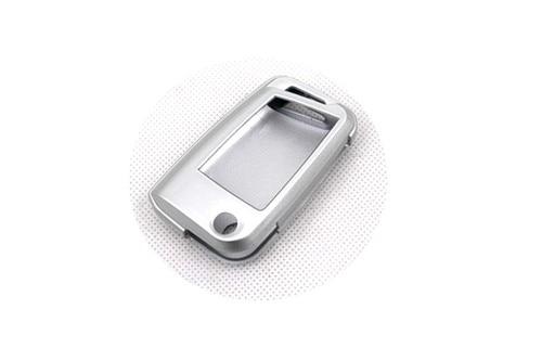 Жесткий Пластик БЕСКЛЮЧЕВОЙ дистанционный ключ защитный кожух(Блестящая серебряная) для VW Volkswagen Golf MK7