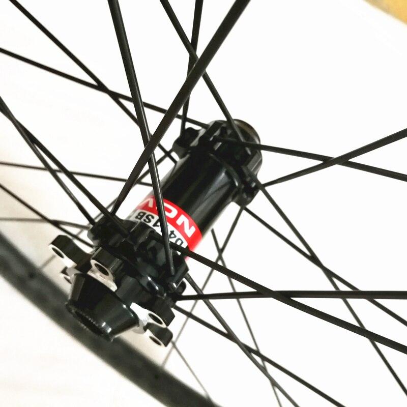 Центральный замок бескамерное колесо с Карбоновым диском 38 мм Глубина бескамерная дорожная колесная установка через ось или qr дисковый тормоз 6 бортов 25 мм ширина