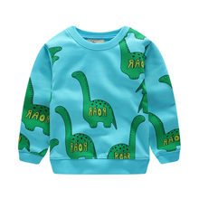 Jumping meters new style long sleeve t shirt baby girls cute cartoon t shirt with printed dinosaurs top girls boys t shirts 2017(China)