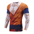 New Mens Qmilch Quick Dry Breathable Tights Dragonball 3D T-shirt Mens Compression T Shirt  Fitness Bodybulding Tops
